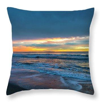 Sunset Fire Over Catalina Island 2 Throw Pillow