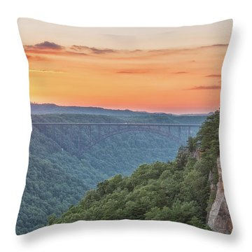 Sunset Flare Throw Pillow