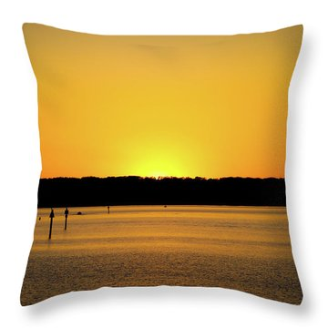 Sunset From National Harbor Throw Pillow