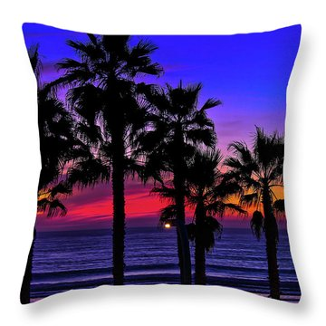 Sunset From The Ocean Park Inn Throw Pillow