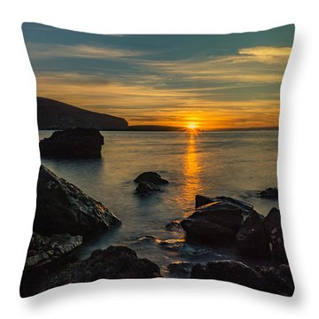Sunset In Balandra Throw Pillow