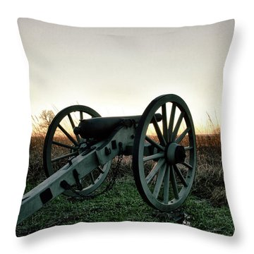 Sunset In Defense Throw Pillow