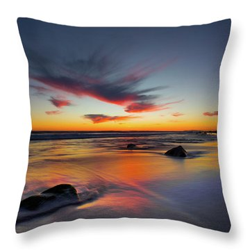 Sunset In Malibu Throw Pillow