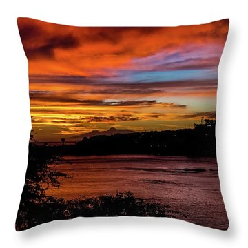 Sunset In Praia, Cape Verde Throw Pillow