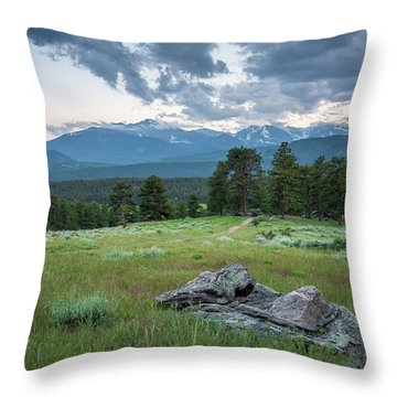 Sunset In Rocky Mountain National Park  Throw Pillow