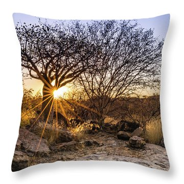 Sunset In The Erongo Bush Throw Pillow