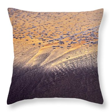 Throw Pillow featuring the photograph Sunset In The Sand by Whitney Goodey