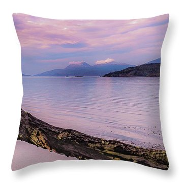 Sunset In Ushuaia Throw Pillow