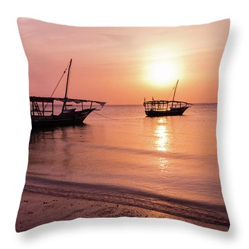 Sunset In Zanzibar Throw Pillow