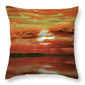 Throw Pillow featuring the photograph Sunset Lake by Bill Swartwout Fine Art Photography