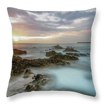 Throw Pillow featuring the photograph Sunset Matosinhos by Bruno Rosa