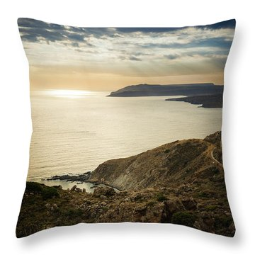 Sunset Near Tainaron Cape Throw Pillow