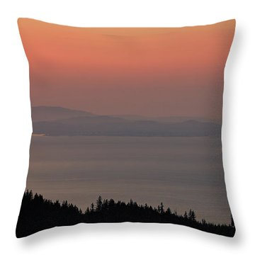 Sunset Of The Olympic Mountains Throw Pillow