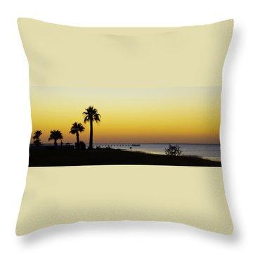 Sunset On Copano Bay, Texas Throw Pillow