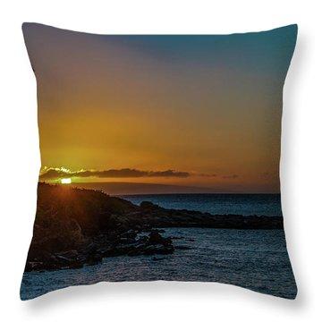 Sunset On Kapalua Throw Pillow