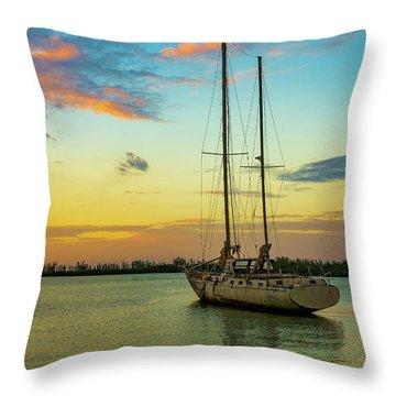 Sunset On The Lagoon Throw Pillow