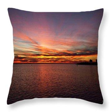 Sunset Over Canada Throw Pillow