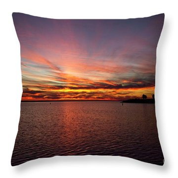 Sunset Over Canada Throw Pillow