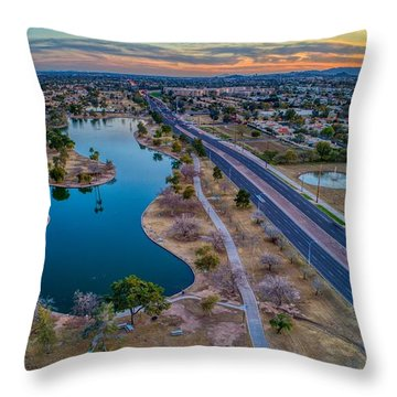 Sunset Over Chaparral  Throw Pillow