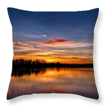 Sunset Over Laupheim Quarry Throw Pillow