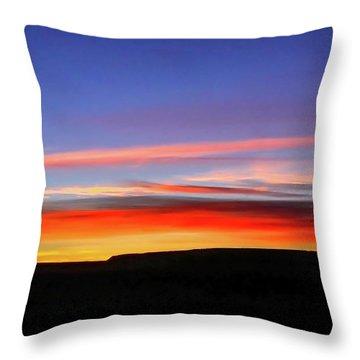 Sunset Over Navajo Lands Throw Pillow