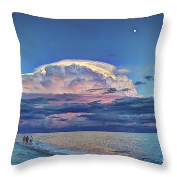 Sunset Over Sanibel Island Throw Pillow
