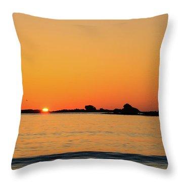 Sunset Over Sunset Bay, Oregon 4 Throw Pillow