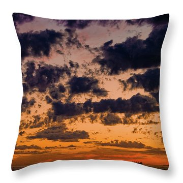 Sunset Over The Indian Ocean Throw Pillow