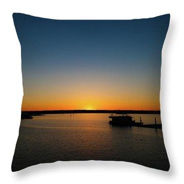 Sunset Over The Potomac Throw Pillow