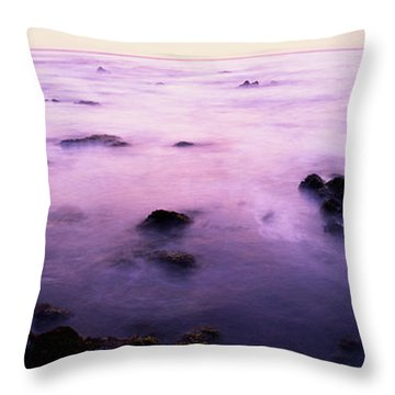 Sunset Over The Sea, 17-mile Drive Throw Pillow