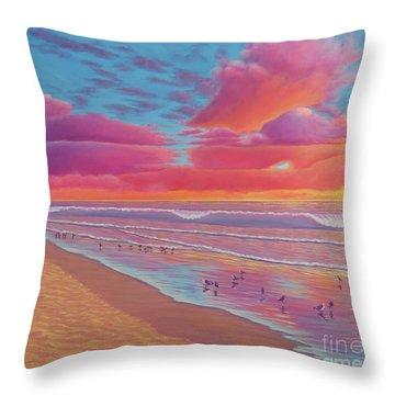 Sunset Shore Throw Pillow