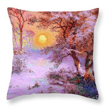 Sunset Snow Throw Pillow