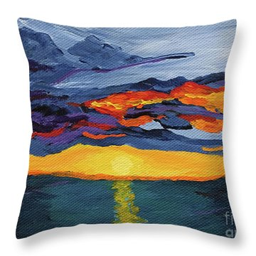 Sunset Streak Throw Pillow