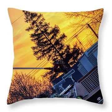 Sunset Streams Throw Pillow
