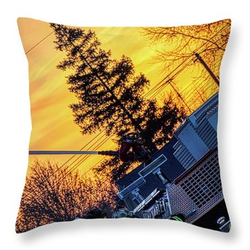 Sunset Streams Throw Pillow