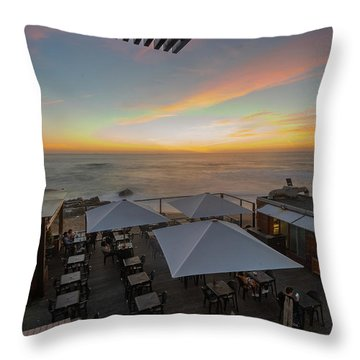 Throw Pillow featuring the photograph Sunset Vibes by Bruno Rosa