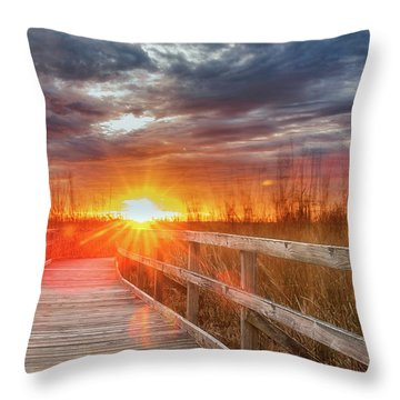 Throw Pillow featuring the photograph Sunset Walk by Russell Pugh