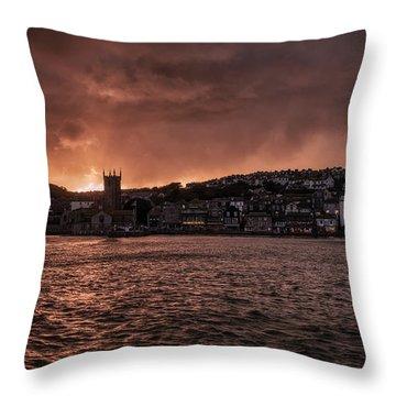 Sunset Harbour Throw Pillow