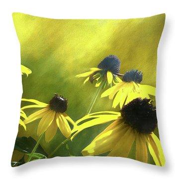 Sunshine On Black Eyed Susan Throw Pillow