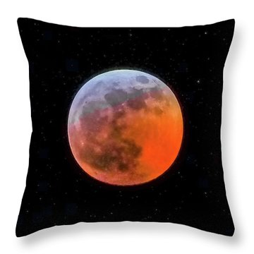 Super Blood Moon Eclipse 2019 Throw Pillow