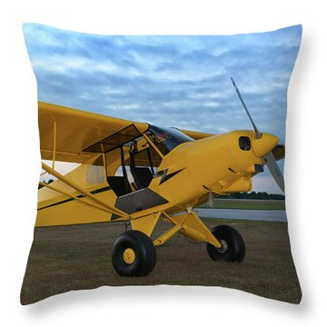 Super Cub At Daybreak Throw Pillow