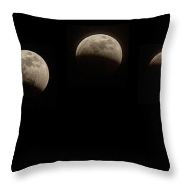 Super Wolf Blood Moon Eclipse Sequence Throw Pillow