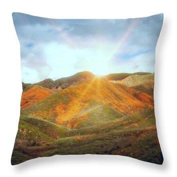 Superbloom Sunrise Throw Pillow