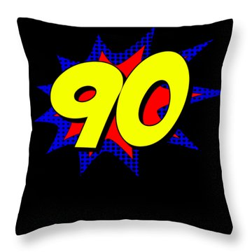 Superhero 90 Years Old Birthday Throw Pillow