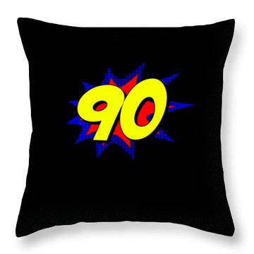 Superhero 90 Years Old Birthday Throw Pillow