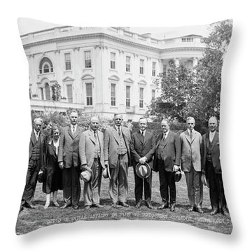 Superintendents Of Indian Affairs Throw Pillow