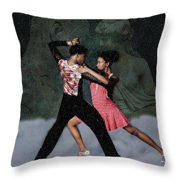 Supernal Salsa Throw Pillow