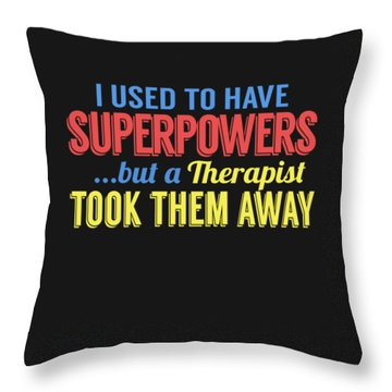 Superpowers Throw Pillow