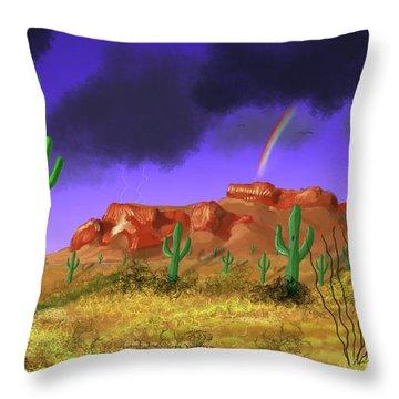 Superstition Splendor Throw Pillow
