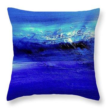 Superstorm At Sea Throw Pillow